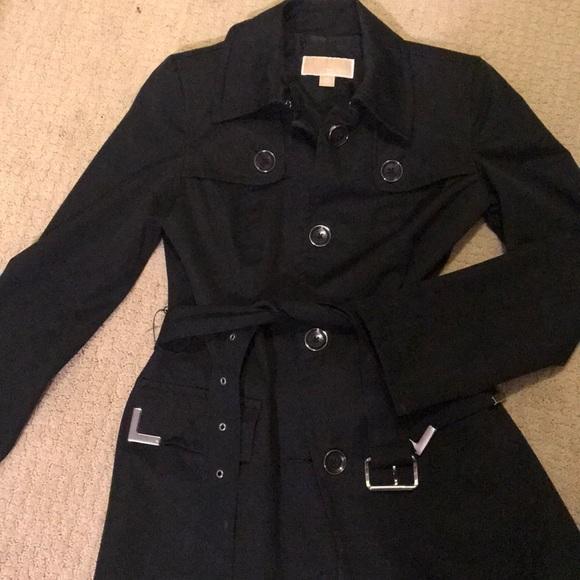 low price sale better price best service Michael Kors black trench coat